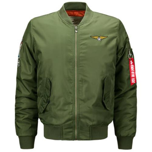 Thick-Winter-Men-Bomber-Jacket-Air-Force-One-Hip-Hop-Patch-Slim-Fit-Pilot-Jacke thumbnail 8